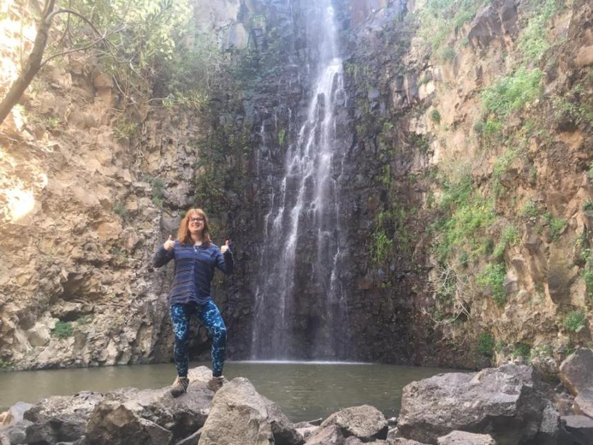 golan heights waterfall