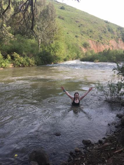 wild swimming golan heights